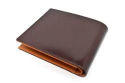 CORDOVAN1957(コードバン1957) 二つ折り財布(小銭入れあり) 「プレリー1957」 NP12223 チョコ 裏面