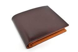 CORDOVAN1957(コードバン1957) 二つ折り財布(小銭入れあり) 「プレリー1957」 NP12223 チョコ 正面