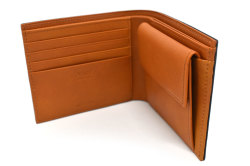 CORDOVAN1957(コードバン1957) 二つ折り財布(小銭入れあり) 「プレリー1957」 NP12223 チョコ 内作り