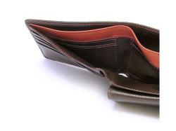 ItalianDeerskin (イタリアンディア) 二つ折り財布(小銭入れあり) 「プレリー1957」 NP17112 チョコ 裏面