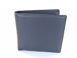 ItalianDeerskin (イタリアンディア) 二つ折り財布(小銭入れあり) 「プレリー1957」 NP17112 グレー 正面