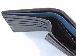 ItalianDeerskin (イタリアンディア) 二つ折り財布(小銭入れあり) 「プレリー1957」 NP17112 グレー 裏面