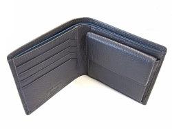 ItalianDeerskin (イタリアンディア) 二つ折り財布(小銭入れあり) 「プレリー1957」 NP17112 グレー 内作り