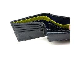 ItalianDeerskin (イタリアンディア) 二つ折り財布(小銭入れあり) 「プレリー1957」 NP17112 コン 裏面