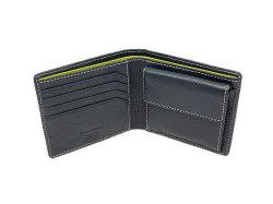 ItalianDeerskin (イタリアンディア) 二つ折り財布(小銭入れあり) 「プレリー1957」 NP17112 コン 内作り