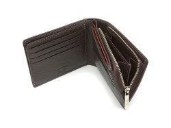 ItalianDeerskin (イタリアンディア) 二つ折り財布(F小銭入れあり) 「プレリー1957」 NP17814 チョコ 内作り