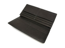 BabySkinKip (ベビースキンキップ) 長財布(通しマチ) 「プレリー1957」 NP19715 クロ 内作り