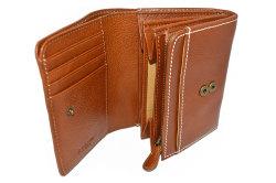 FAV(ファボ) 二つ折り財布(小銭入れあり) 「ル・プレリーギンザ 」 NP20213 キャメル 内作り