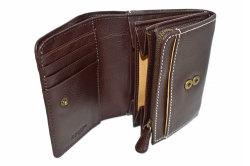FAV(ファボ) 二つ折り財布(小銭入れあり) 「ル・プレリーギンザ 」 NP20213 チョコ 内作り