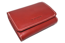 FAV(ファボ) 二つ折り財布(小銭入れあり) 「ル・プレリーギンザ 」 NP20213 アカ 正面