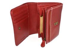 FAV(ファボ) 二つ折り財布(小銭入れあり) 「ル・プレリーギンザ 」 NP20213 アカ 内作り