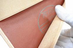 ナチュラルコードバン スマートコンパクト 長財布 「プレリーギンザ」 NP47030 チョコ 内作り