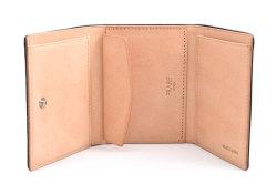 ナチュラルコードバン スマートコンパクト 三つ折り財布(小銭入れあり) 「プレリーギンザ」 NP47122 クロ 内作り