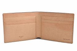 ナチュラルコードバン スマートコンパクト 二つ折り財布(小銭入れなし) 「プレリーギンザ」 NP47222 クロ 内作り