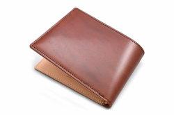 ナチュラルコードバン スマートコンパクト 二つ折り財布(小銭入れなし) 「プレリーギンザ」 NP47222 チョコ 裏面