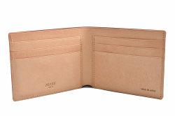 ナチュラルコードバン スマートコンパクト 二つ折り財布(小銭入れなし) 「プレリーギンザ」 NP47222 チョコ 内作り