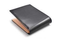 ナチュラルコードバン スマートコンパクト 二つ折り財布(小銭入れあり) 「プレリーギンザ」 NP47724 クロ 裏面