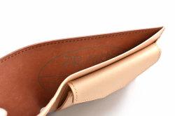 ナチュラルコードバン スマートコンパクト 二つ折り財布(小銭入れあり) 「プレリーギンザ」 NP47724 チョコ 内作り