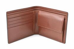 Natural Cordovan(ナチュラルコードバン) 二つ折り財布(小銭入れあり) 「プレリーギンザ」 NP48130 クロ 内作り