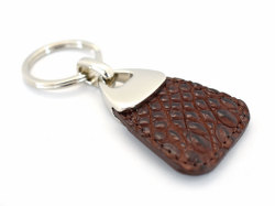 キーホルダーコレクション オイルクロコダイル キーホルダー 「プレリーギンザ」 NP51840 チョコ 正面