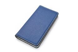 牛革手帳型iPhoneケース(アイフォンケース) X/XS用 「プレリーギンザ」 NP52512 ネイビー 正面