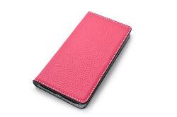 牛革手帳型iPhoneケース(アイフォンケース) X/XS用 「プレリーギンザ」 NP52512 ピンク 正面