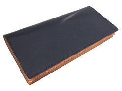 ナチュラルグレージングコードバン  長財布  「プレリーギンザ」 NP53033 クロ 裏面