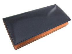 ナチュラルグレージングコードバン  長財布  「プレリーギンザ」 NP53033 クロ 正面
