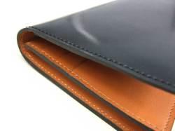 ナチュラルグレージングコードバン  長財布  「プレリーギンザ」 NP53033 クロ 側面コバ
