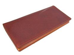 ナチュラルグレージングコードバン  長財布  「プレリーギンザ」 NP53033 チョコ 裏面