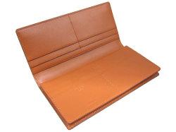 ナチュラルグレージングコードバン  長財布  「プレリーギンザ」 NP53033 チョコ 内作り
