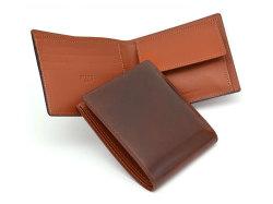 ナチュラルグレージングコードバン  二つ折り財布(小銭入れあり)  「プレリーギンザ」 NP53130 チョコ 特徴