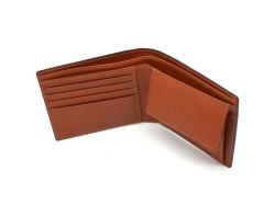 ナチュラルグレージングコードバン  二つ折り財布(小銭入れあり)  「プレリーギンザ」 NP53130 クロ 内作り