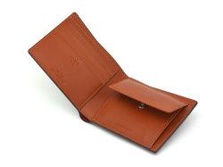ナチュラルグレージングコードバン  二つ折り財布(小銭入れあり)  「プレリーギンザ」 NP53130 クロ 内作り2