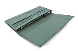 KOBE LEATHER(神戸レザー) 長財布(小銭入れあり)「プレリーギンザ」 NP55017 グリーン 内作り