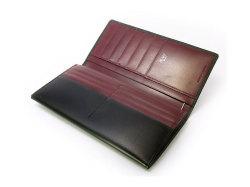ボックスカーフ ヴェネチアンレザー  長財布  「プレリーギンザ」 NP56020 クロ 内作り