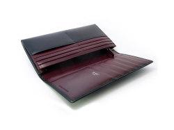 ボックスカーフ ヴェネチアンレザー  長財布  「プレリーギンザ」 NP56020 クロ 内作り2