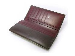 ボックスカーフ ヴェネチアンレザー  長財布  「プレリーギンザ」 NP56020 チョコ 内作り