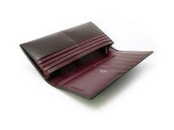 ボックスカーフ ヴェネチアンレザー  長財布  「プレリーギンザ」 NP56020 チョコ 内作り2