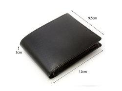 ボックスカーフ ヴェネチアンレザー  二つ折り財布(小銭入れあり)  「プレリーギンザ」 NP56118 サイズ
