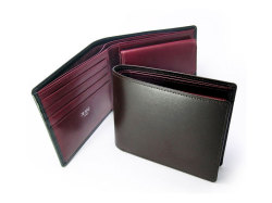 ボックスカーフ ヴェネチアンレザー  二つ折り財布(小銭入れあり)  「プレリーギンザ」 NP56118 イメージ画像