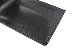 ボックスカーフ ヴェネチアンレザー  二つ折り財布(小銭入れなし)  「プレリーギンザ」 NP56216 クロ/クロ 特徴