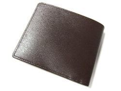ボックスカーフ ヴェネチアンレザー  二つ折り財布(小銭入れなし)  「プレリーギンザ」 NP56216 クロ 裏面