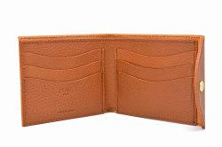ミニマルクラシック 二つ折り財布(小銭入れなし) 「プレリーギンザ」 NP59117 ブラウン 内作り