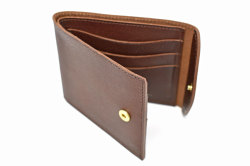 ミニマルクラシック 二つ折り財布(小銭入れなし) 「プレリーギンザ」 NP59117 チョコ 内作り