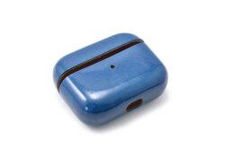 AirPods Pro Leathercase KICS(エアーポッツプロ レザーケース) 「プレリーギンザ」 NP71398 ブルー 正面