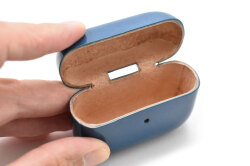 AirPods Pro Leathercase KICS(エアーポッツプロ レザーケース) 「プレリーギンザ」 NP71398 ブルー 内作り