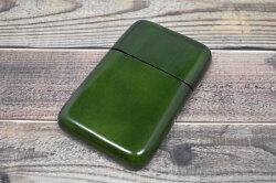 Artigiano(アルチジャーノ) カードケース  「プレリーギンザ」 NP72413 グリーン 正面