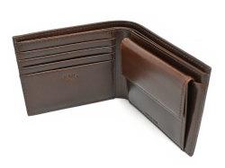 Patine2(パティーヌ2) 二つ折り財布(小銭入れあり) 「プレリーギンザ」 NP78119 チョコ 内作り