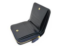 Patine2(パティーヌ2) ラウンドファスナー二つ折り財布 「プレリーギンザ」 NP78220 ブルー 内作り